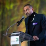 Jesse Williams during his acceptance speech for the Lift Every Voice Award.